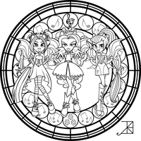 SG: Dazzlings: coloring Page by Akili-Amethyst
