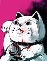 lucky cat are me by allenlau
