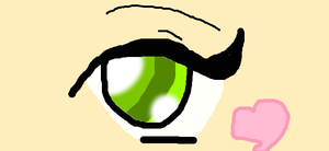Eye color with a heart by Loverlye