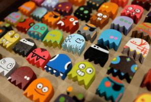 Pacman Ghosts by CreamTroll