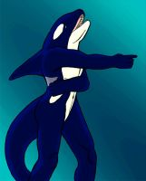 Anthro Orca Colored by KiyaraSabel