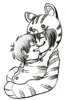 Now we're both tigers, mommy! by Psychoon