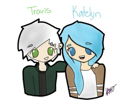 Travis and Katelyn from Minecraft Diaries by KaiTheIaniteFollower