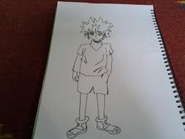 Hunter x Hunter: Killua Fanart by AxelRaptr