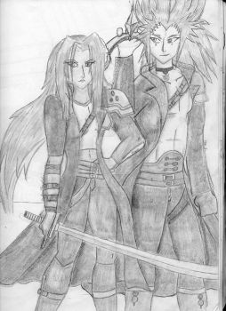 Sephira/Tatiana: The General's Daugther and Axel by DestinedOneofIce