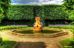 Golden Fish Fountain by supersnappz16