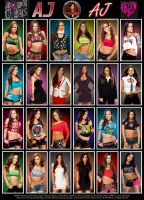 WWE AJ Lee Poster by Chirantha