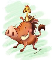 Timon And Pumba by I-Am-Bleu