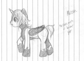 Crona - MLP Somber Inkling (sketch) by ManiacTenshi