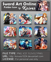 Sword Art Online Version 2 Anime Folder Icon b by knives1024