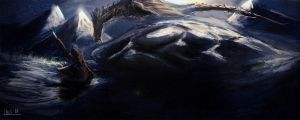 Alduin in Skyrim by adireflex