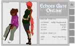 Echoes Gate Online Application: Addy by McAlli