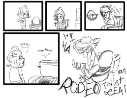 rodeo on toilet seat by nevan1