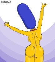 Marge naked by Basicdraw
