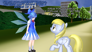 Cirno meets Derpy by mattwo