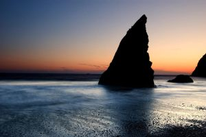 Orca Rock after the Sunset by aponom