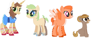 4 Pony Adoptables 1 Left by DoodleBug-Adoptable
