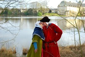 Medieval newlyweds by CorHydraePhotography