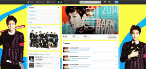 #2 Twitter Pack: EXO [Season's greetings Style] by DGeneration-LOL
