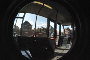 fish eye's lens stock BUS by Theshelfs