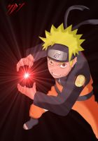 Naruto with Demon Rasengan by Sepheros96