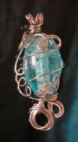Wire Wrap Pendant by crazed-fangirl