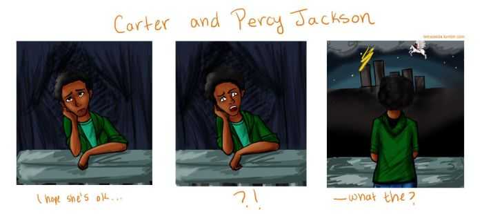 Carter Kane and Percy Jackson by Tetra-Zelda