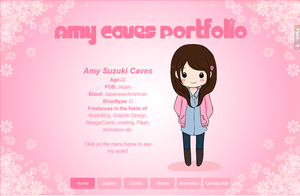 My Portfolio Website by Pink-world