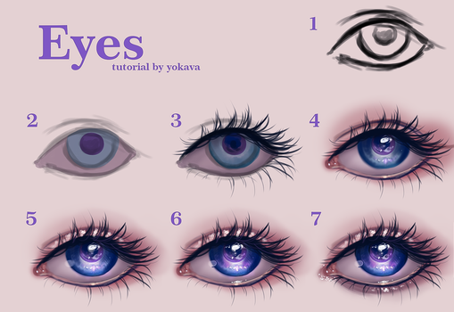 Semi-realistic eyes tutorial by yokava