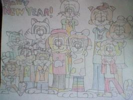 Happy New Year from Tony and Friends by Poundpuppiesrock1991