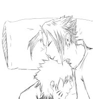 SasuNaru sleeping  skech by Gaara-SasuNaru-fan