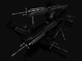 M249 urban tactical by darkpaladin07