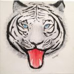 White tiger  by K-Ackerman