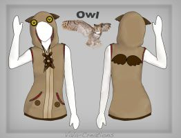 Owl Hoodie design by Vala-Creations