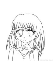 Thinking on drawing -Lineart- by Isami05