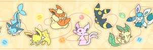Eeveelution Line by TwelvePM