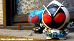 Kamen Rider Meteor and Fourze custom by Giosuke