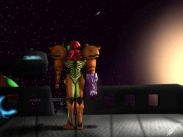 Samus-Aran-Space-Station by Loneion