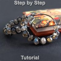 DIY Hoops earrings tutorial by Arctida