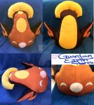 Stunfisk Pokemon Plush! Life size! by darkangeljewel