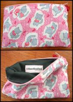Cute Pink Kitty Pouch by HezaChan
