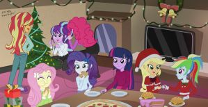 Mlp - chrismas home party(?) by sumin6301