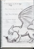 Hiccup and Toothless Sketch by copperagon