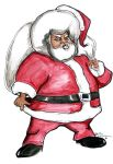 afro claus by sketchoo