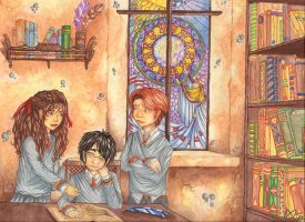 Trio at The Library by PrimeHunter