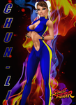 Chun-Li: Alpha TrackSuit v1-Catching Fire :3 by LaraLuvsMe