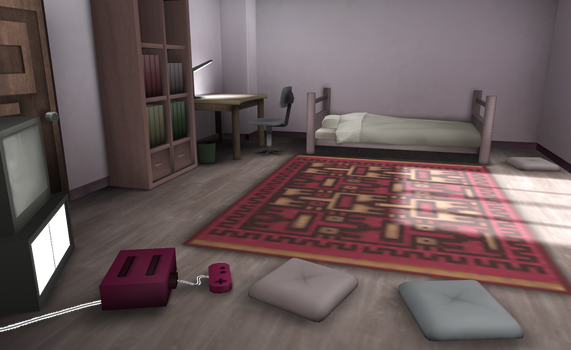 MMD Yumei Nikki room by amiamy111
