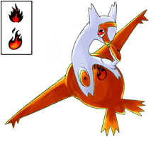 Serafina the Fire Latias by Silenrea