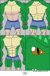 Crocodile Anthro Tf Page 05 by Maxime-Jeanne
