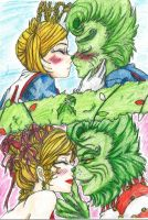 Mistletoe Grinch and Martha by Inubaki